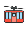 cable car icon filled outline style editable vector image vector image