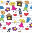 children doodle vector image vector image