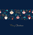 christmas and new year gold cartoon greeting card vector image vector image