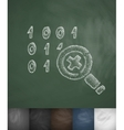 cipher icon Hand drawn vector image vector image