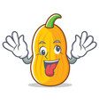 crazy butternut squash mascot cartoon vector image vector image