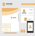 cupboard business logo file cover visiting card vector image vector image