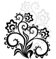 Decorative floral ornament vector image