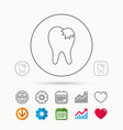 dental fillings icon tooth restoration sign