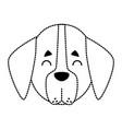 dog head cartoon vector image vector image