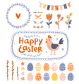 Easter graphic set vector image vector image