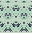 ethnic geometric mint green summer seamless vector image vector image
