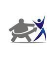 fitness center logo design template vector image