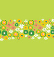 floral seamless repeat border easter spring vector image vector image