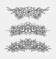 flower and leaves ornament decoration sketches vector image vector image