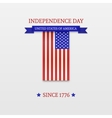 Fourth of July Stylish American Independence Day vector image vector image