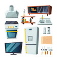 furniture for kitchen and living room vector image vector image