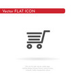 grocery trolley icon for web business finance vector image vector image