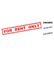 grunge for rent only textured rectangle stamps vector image vector image
