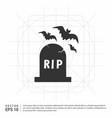 halloween grave icon vector image