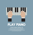 Hand Playing Piano vector image vector image