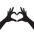 hands making heart shape vector image vector image