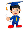 happy boy after graduation vector image vector image