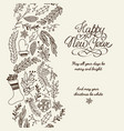 happy new year greetings postcard vector image vector image