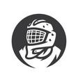 hockey goalkeeper simple silhouette vector image vector image