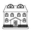 house in thin line style on white background vector image