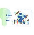 Idea website landing page design template