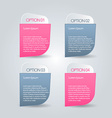 Infographic abstract banner template vector image vector image