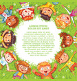 international childrens day or earth day vector image
