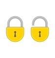 Lock open and closed vector image vector image