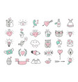 love symbols and hand drawn valentines day icons vector image vector image