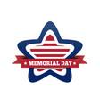 memorial day design vector image vector image