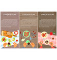 menu for sweet table vector image vector image