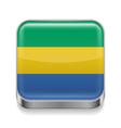 Metal icon of Gabon vector image vector image