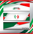 mexico banner design vector image
