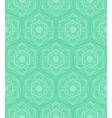 Mint green geometric pattern in 60s style vector image vector image