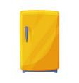 orange retro rrefrigerator household kitchen vector image