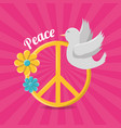peace and love hippie concept vector image vector image