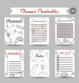ramanad kareem planner arabic notes vector image