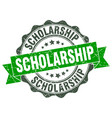 scholarship stamp sign seal vector image vector image