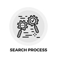 Search Process Line Icon vector image vector image