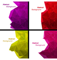 Set of abstract modern style backgrounds vector image vector image