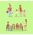 Set of big Family portrait vector image vector image