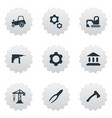 set of simple industrial icons vector image