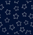 silver stars on dark background seamless pattern vector image vector image