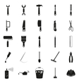 Simple black set of tools icons vector image vector image