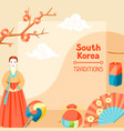 south korea traditions korean banner design with vector image