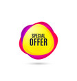 special offer symbol sale sign vector image vector image