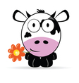 sweet and cute cow vector image vector image