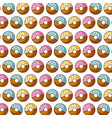 sweet donut dessert pastry seamless pattern vector image
