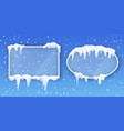 transparent glass frames covered with realistic vector image vector image